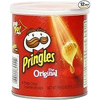 12-Pack Pringles Original Potato Crisps 1.3 Oz. Canister
