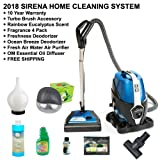 Sirena 2016 New 2-Speed Water Filtration Vacuum Cleaner Deluxe Total Home Care System With Bonus Rainbow Fragrance and Extras Exclusive Fresh Air Revitalizer Aroma Therapy Machine and 10 yr Warranty (Color: Blue)