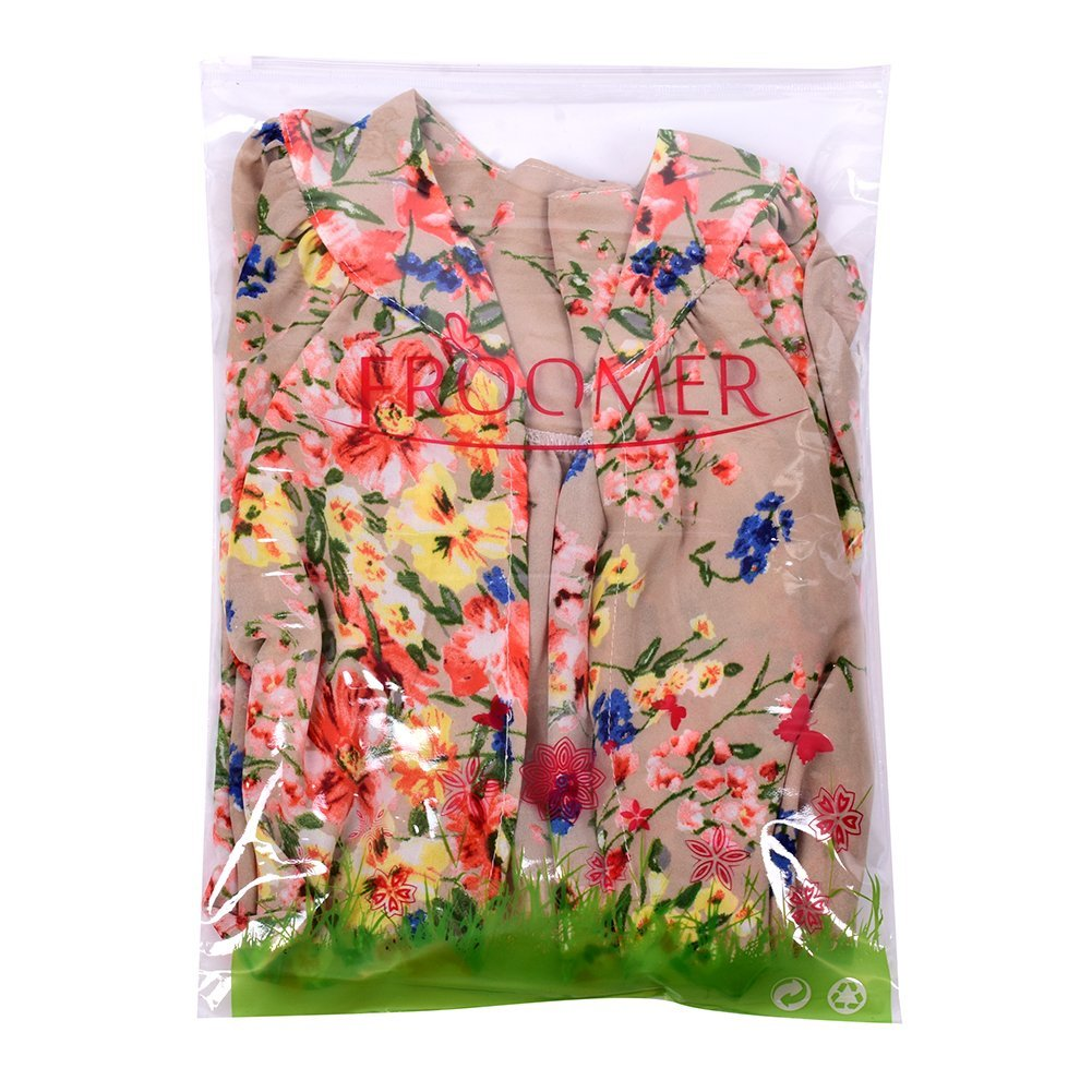 Froomer Women Vintage Floral Boho Shawl Kimono Cardigan Loose Chiffon Blouse 3