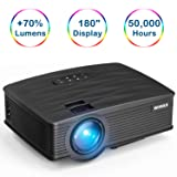 WiMiUS Projector, Upgraded 2200 Lumens Mini Projector with 176