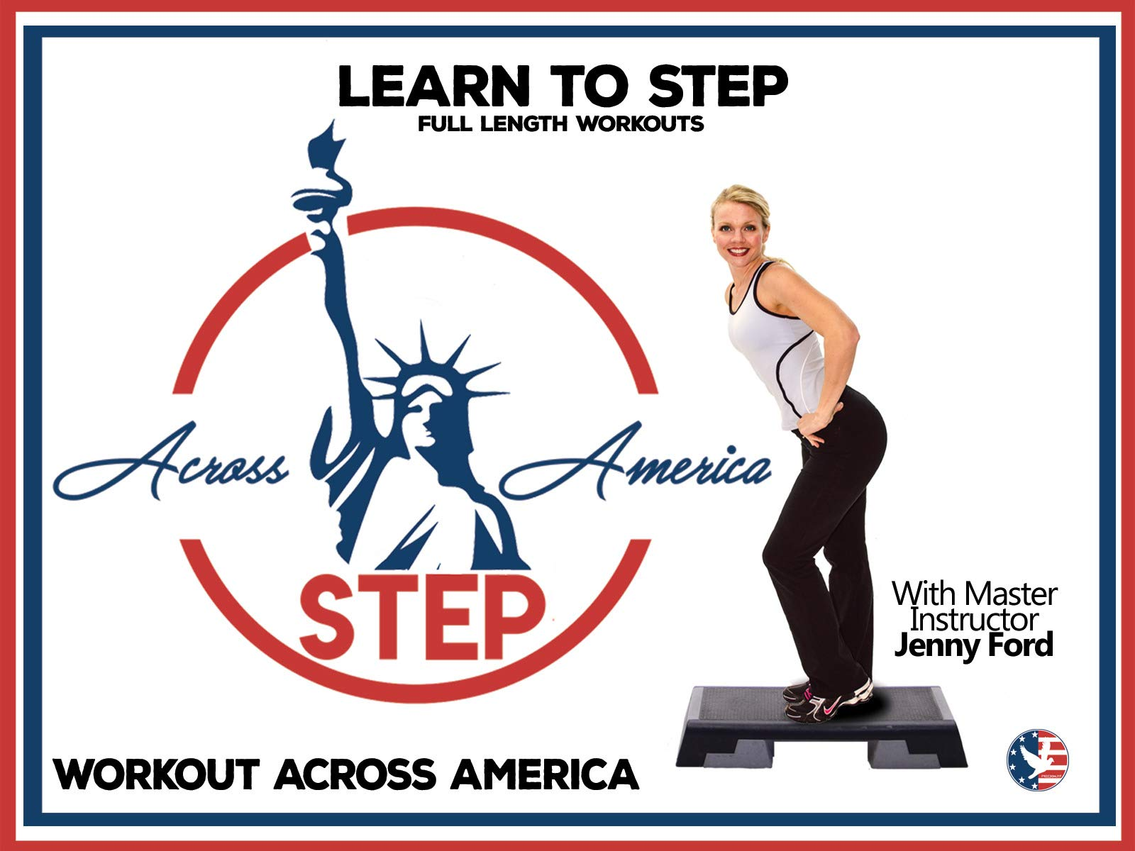 Step Across America and Learn to Step with Jenny Ford full length workouts on Amazon Prime Instant Video UK