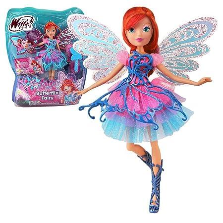 Winx Club - Butterflix Fairy - Bloom Poupée 28cm avec magique Robe