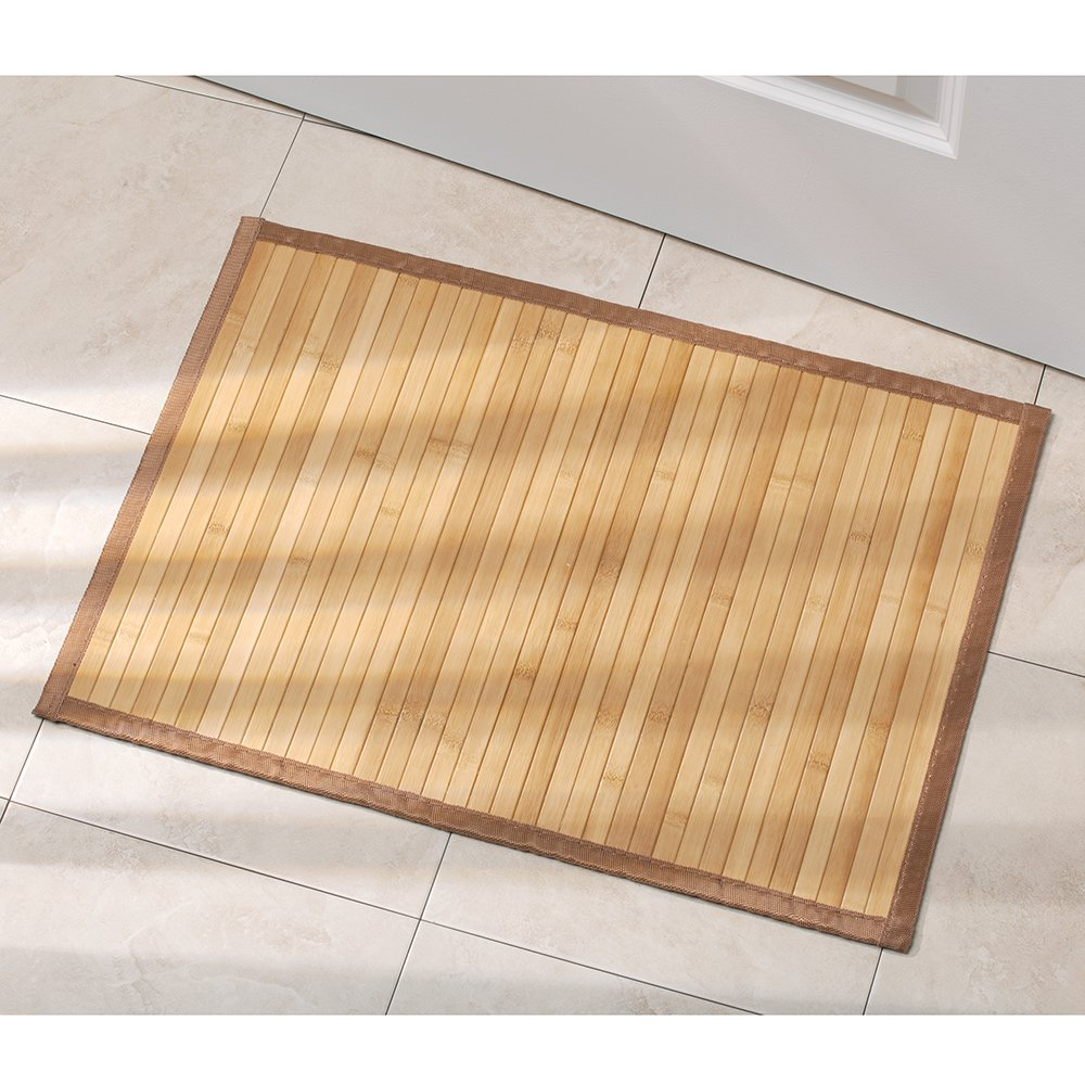 Bathroom Bamboo Floor Mat Exotic Shower Bath Smooth Shower Non Skid 17 X 24 Inch