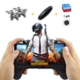 Mobile Game Controller Sensitive Shoot, Aim Keys L1R1 Shooter Joysticks Triggers for Android iOS Phones 4.5-6.5 inches Game Grip Handle Holder for PUGB/Fortnite/Rules of Survival (Color: Black,Gray,Red,Blue,Metallic,Silver)
