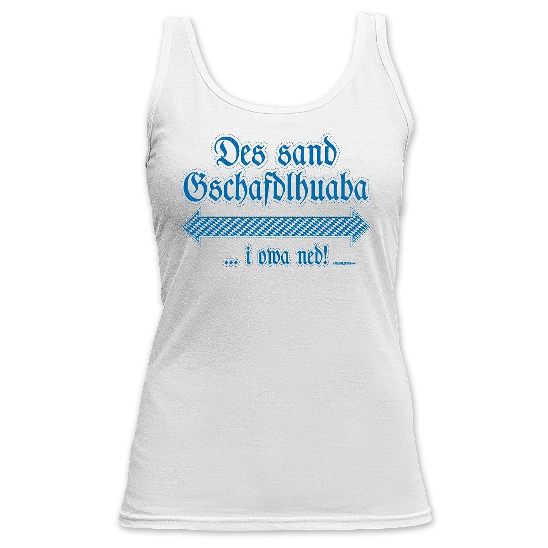 Damen Tank Top fürs Oktoberfest / Volksfest / Dorffest – Des sand Gschafdlhuaba! Das sexy Girlie Shirt auf Bayerisch jetzt bestellen