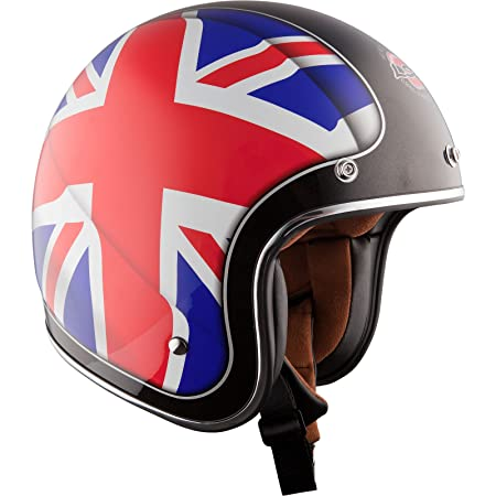 LS2 OF583.28 Union Jack Open Face Motorcycle Helmet XXL Blue Red