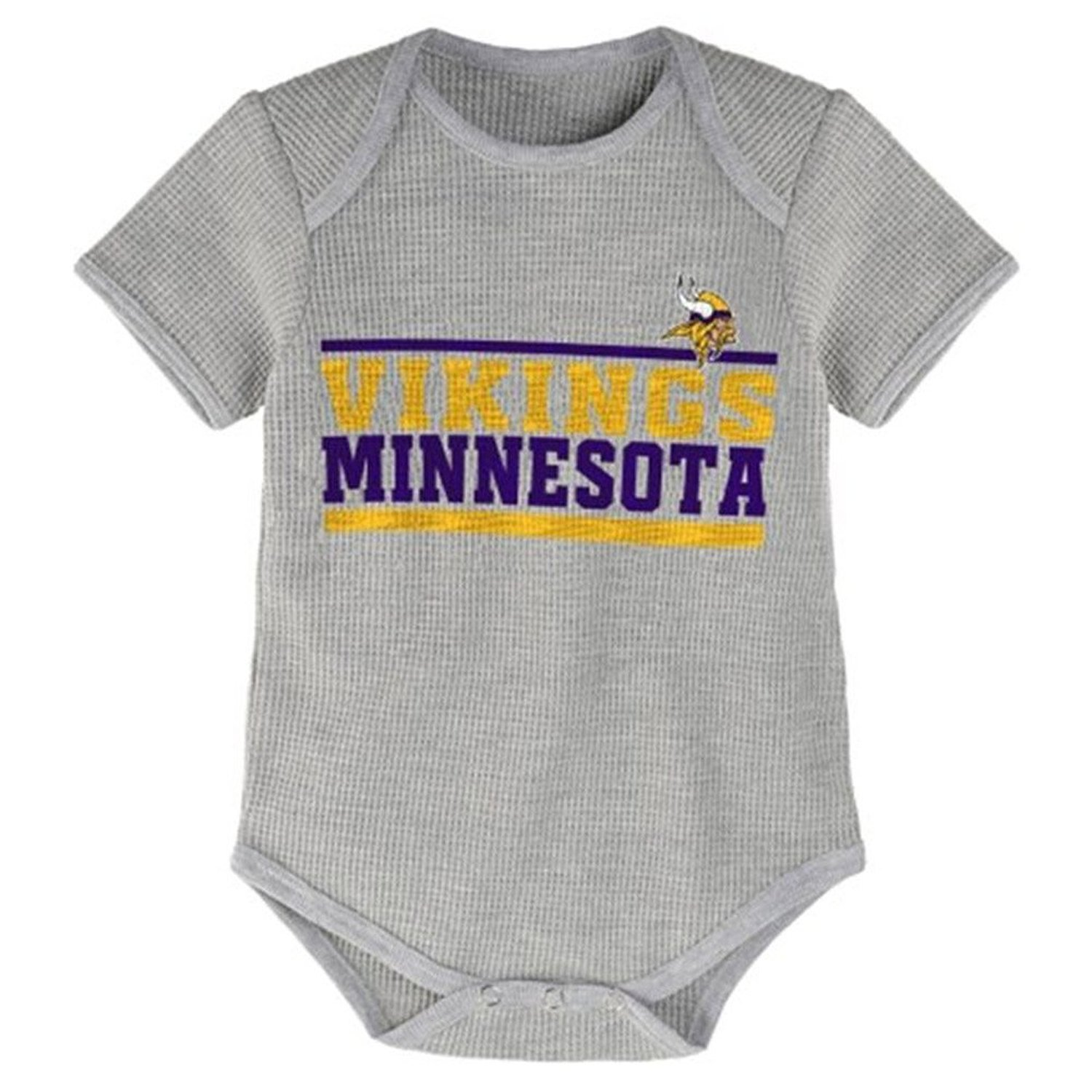NFL Minnesota Vikings Stacked Baby One Piece Bodysuit