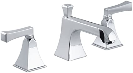 KOHLER K-454-4V-CP Memoirs Widespread Lavatory Faucet with Stately Design, Polished Chrome