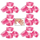 Lot Of 48 Pink Ribbon Camo Rings - Stretch Silicone - Breast Cancer Awareness