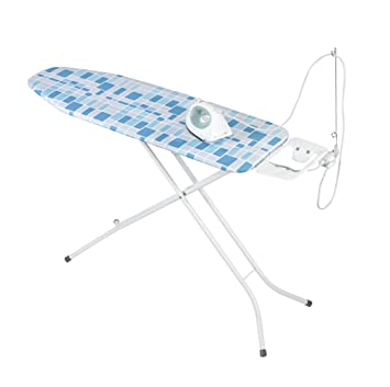 WENKO Bügel-Tisch Jumbo mit Abstell-Fläche 120 x 95 x 42 cm weiss Bügel-Brett