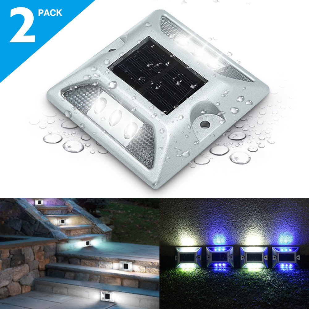Deck Lights Solmore 2 Pack Led Solar Dock Path Road