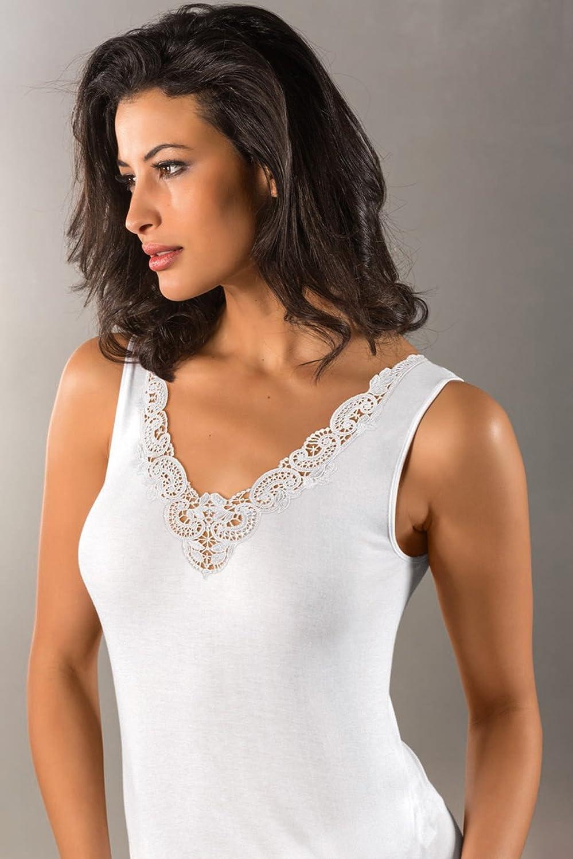 Nina von C, Swiss Cotton Premium, schönes Achselhemd, Baumwolle, weiß