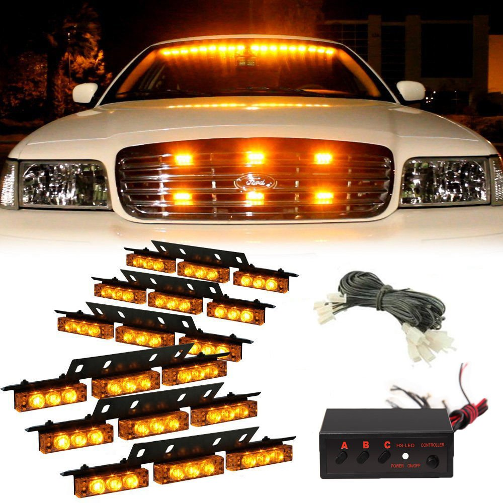 54 led emergency truck car strobe lights bar warning snow. Black Bedroom Furniture Sets. Home Design Ideas