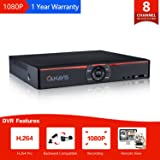 CANAVIS 8 Channel 720P HD-TVI Standalone DVR H.264 CCTV Security Surveillance DVR Record System NO Hard Disk (Full 720P, 1080N,QR Code Scan Quick Access, Smart phone& PC Easy Remote Access) (Color: 8 Channel DVR)