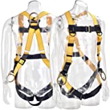 WELKFORDER 3D-Rings Industrial Fall Protection Full Body Safety Harness ANSI Certified Personal Protection Equipment (Tamaño: 3D-Rings Harness)