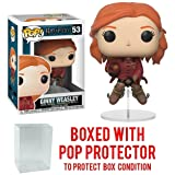 Funko Pop Movies: Harry Potter - Ginny Weasley on Broom Vinyl Figure (Bundled with Pop Box Protector Case) (Color: Quidditch Ginny Pop, Tamaño: 3.75 inches)