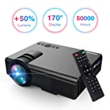 Projector, Upgraded Lumens TENKER Mini Projector With 170