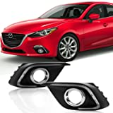 Win Power Waterproof Daytime Running Light DRL Fog Lamp Kit for 2014 2015 2016 Mazda 3 Axela + Error-Free Canbus- 1 Year Warranty(1 Pair)