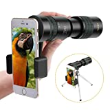 SGODDE Monocular Telescope, 8-24X30 Zoom Telescope,Dual Focus Monocular Scopes- High Power, BAK4 Prism Lens with Smartphone Adapter & Tripod for Bird Watching Hunting Hiking Traveling