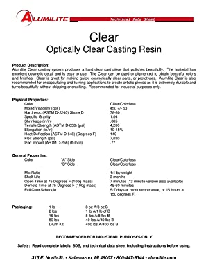 Alumilite Water Clear 32 oz 2 Part Casting Resin Kit (Color: Clear)
