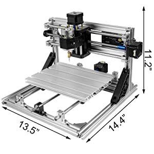 Mophorn CNC Machine 2418 GRBL Control Wood Engraving Machine 3 Axis CNC Router with 500mw Laser Engraver Offline Controller Milling Machine for Wood PVCs PCBs (Tamaño: 240x180mm with Offline Controller)