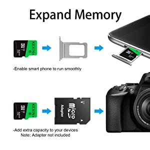 KEXIN 32GB Micro SD Card 32 GB Class 10 Ultra Micro SDHC UHS-I Memory Card C10, U1, 10 Pack Micro SD Cards (Color: E. 10 Pack 32GB, Tamaño: 32G)