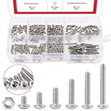 Hilitchi 250-Piece [M2] Stainless Steel Hex Socket Button Head Cap Bolts Screws Nuts Assortment Kit (M2) (Color: M2, Tamaño: M2)