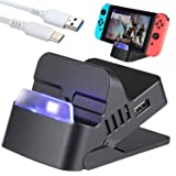 Zacro Switch Dock for Nintendo Switch - Portable Switch Charging Stand, Compact Switch to HDMI Adapter, Replacement Charging Dock for Nintendo Switch, Bonus with a Type-C Cable (Color: Black)