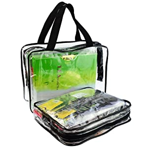 5 Packs Clear Cosmetics Bag Make-up Bags Organizers, Wobe PVC Zippered Toiletry Carry Pouch Portable Makeup Bag for Vacation Travel, Bathroom and Organizing Waterproof Makeup Zipper Bag Vinyl Plastic (Tamaño: Style A(1*L+2*M+2*S))