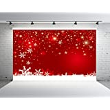 Kate 10x10ft Chirstmas Day Background Snowflake Backdrop Booth Props Red Wall Backdrops (Color: 111, Tamaño: 10x10ft)
