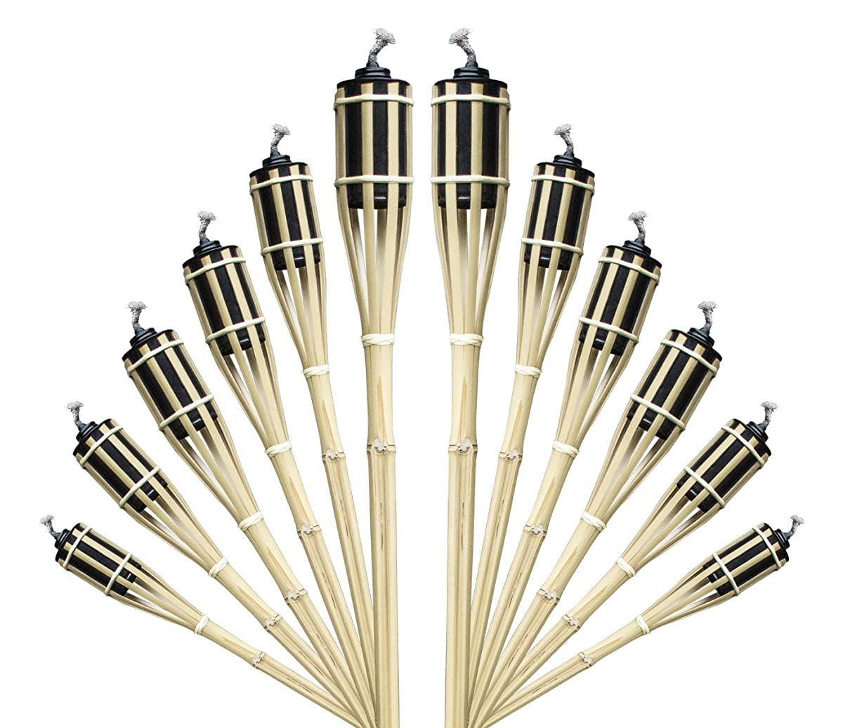 Bamboo Torches – Includes Metal Oil Canisters