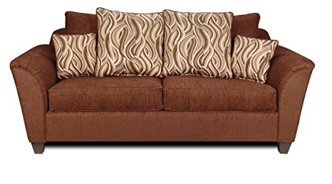 Chelsea Home Furniture Zoey Sofa, Delray Fudge/Jazzy Earth