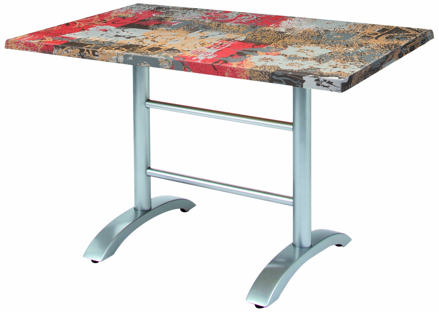 BEST 43541281 Tisch Maestro rechteckig 120 x 80 cm, silber / Babylon günstig