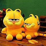 My Super Star Cute Garfield the Cat Plush Dolls Gifts Toys Plush Pillows Boys Girls Yellow Cat Animal Cartoon Figures (40 cm) (Tamaño: 40 cm)