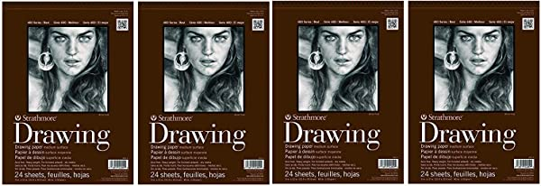 Strathmore (400-5 STR-400-5 24 Sheet No.80 Drawing Pad, 11 by 14, 11x14, Cream (F?ur Pa?k, Cream) (Color: Cream, Tamaño: F?ur Pa?k)