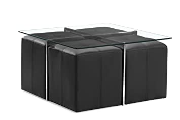 Zuo Modern Botero Coffee Table Set, Clear Glass