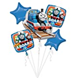 Anagram 86180 FOIL Licensed Balloon Bouquet, One Size, Blue (Color: Blue, Tamaño: One Size)