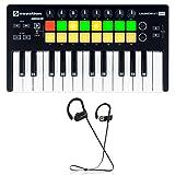Novation LAUNCHKEY MINI MK2 25 Key USB Ableton Keyboard Controller+ Earbuds