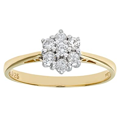 Naava 18ct Yellow Gold Ladies 25pt Diamond Ring