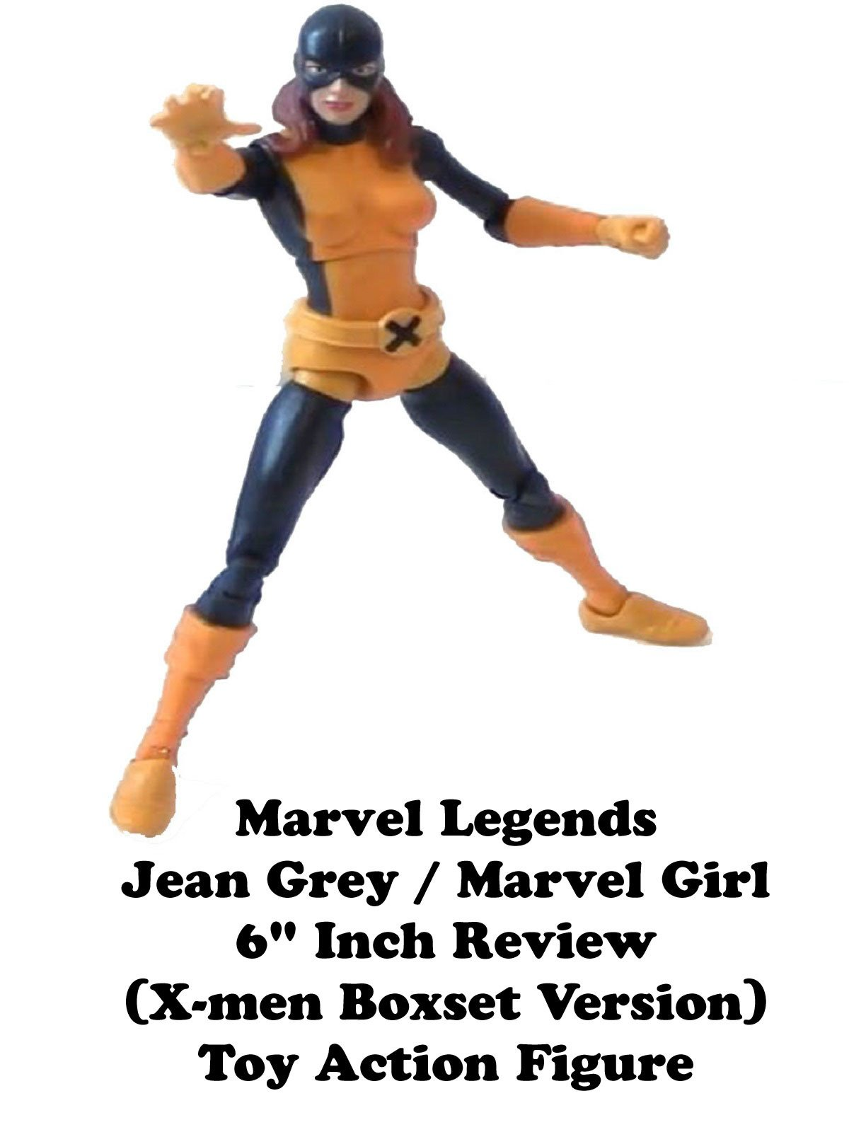 "Review: Marvel Legends Jean Grey / Marvel Girl 6"" Inch Review (X-men Boxset Version) Toy Action Figure"
