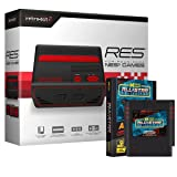 Retro-Bit RES Edition [Standard Definition] Console System (2017) with Retro-Bit Data East All Star Collection NES Multi-Cart Bundle for NES - Black/Red