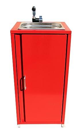 Lavabo lavandino mobile rosso mano lavello Station campeggio