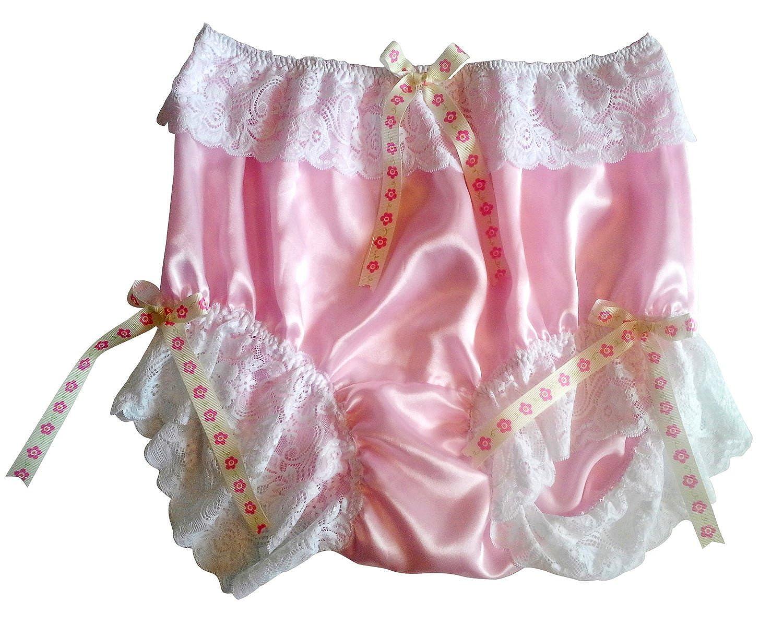 Frauen Handgefertigt Schlüpfer Neu US7H2 pink Briefs Satin Panties Knicker Lacy online bestellen