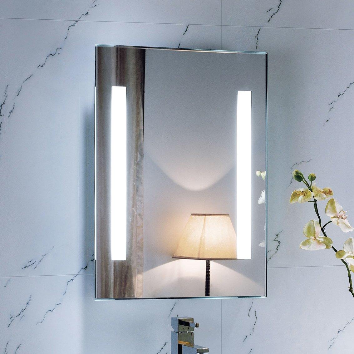 Dakota Bold Illuminated Backlit Mirror 450x600mm  iBath       review and more information