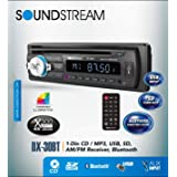 Soundstream DX-30BT Car CD MP3 Player USB AUX SD Card Inputs Single DIN Stereo Receiver with Built-in Bluetooth Hands-Free Calling Music Streaming AM FM Radio Remote Control Detachable Faceplate (Color: BLACK)