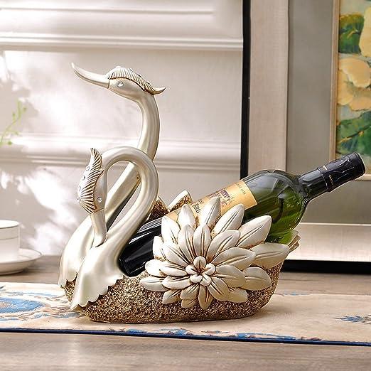 accesorios de bar botellero cisne ornamentos de muebles para el hogar creativas y prácticas salón Mueble de televisión Continental manualidades