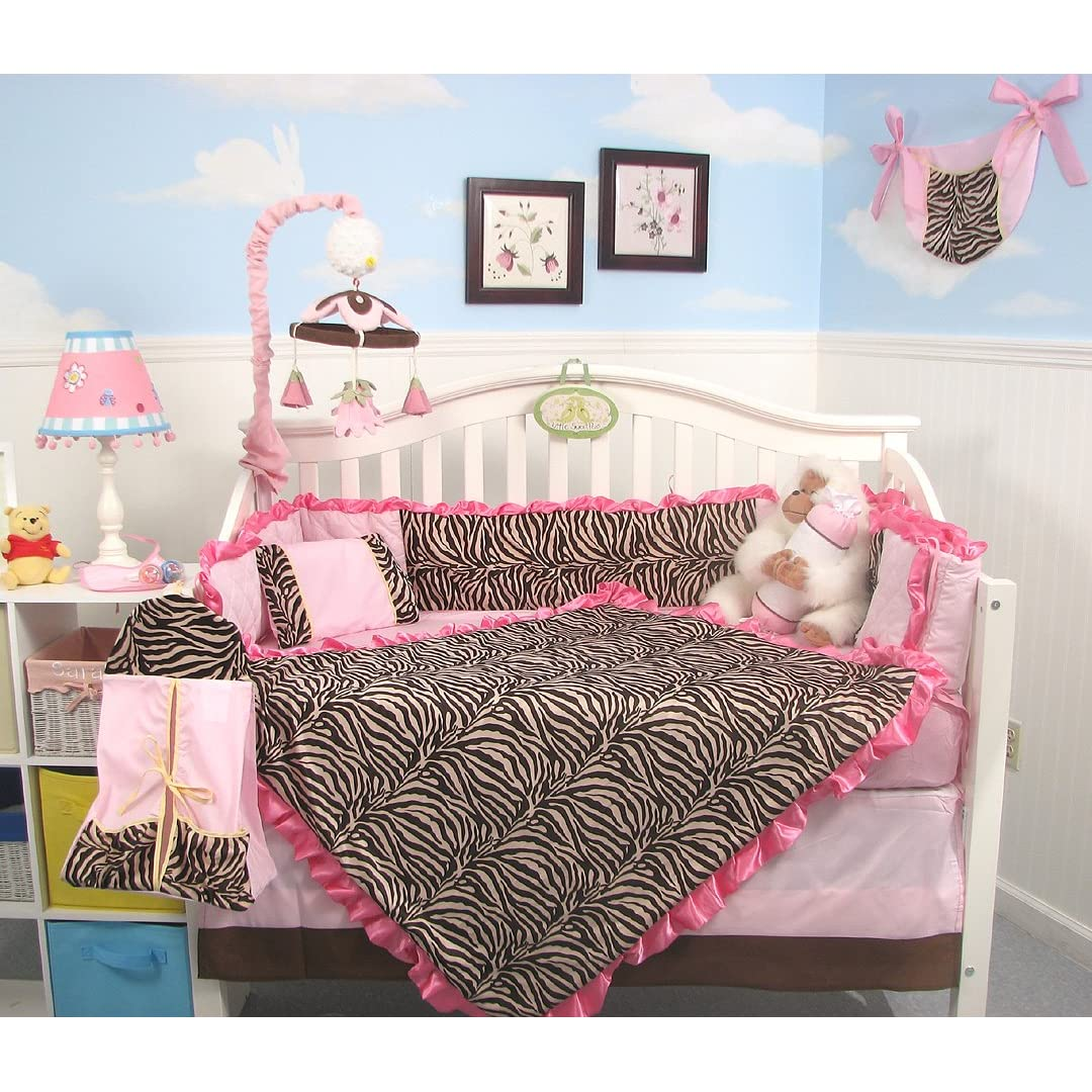 Girl Zebra Crib Bedding