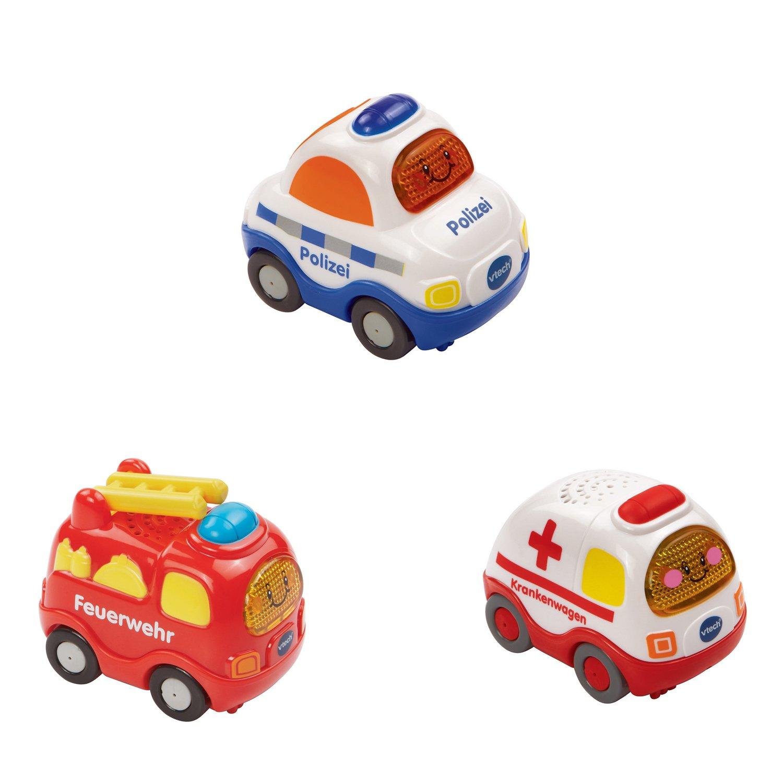 VTech Baby 80-205854 – Tut Tut Flitzer – Fahrzeug – Feuerwehr, Polizei, Krankenwagen, 10-er Set kaufen
