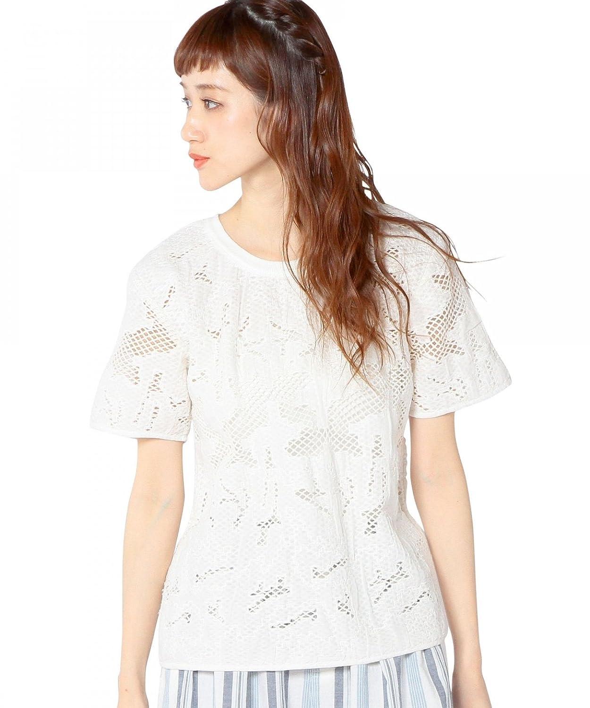 Amazon.co.jp: (アナザーエディション) Another Edition AEBC MESH EMBR SSL 56166030370 01 White フリー: 服&ファッション小物通販
