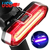 BYB Bike Taillight USB Rechargeable Bicycle Tail Light LED 5 Lighting Modes Waterproof Back Rear Light, High Intensity Easy Installation Cycling Safety Tail Flash Light for Any Mountain Road Bike.
